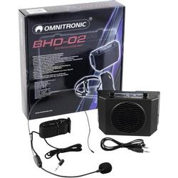 Omnitronic BHD-02 Mobiler PA Lautsprecher 5cm 2 Zoll batteriebetrieben 1St.
