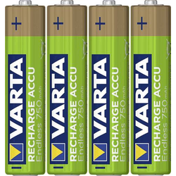 Varta Endless Ready to Use Micro (AAA)-Akku NiMH 750 mAh 1.2V 4St.