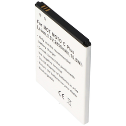 Akku passend für Motorola MOTO C Plus, Li-Ion, 3,8V, 2850mAh, 10,8Wh
