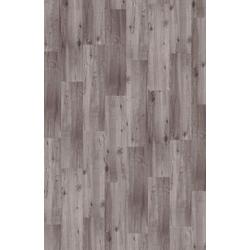 Teppichfliese Velour Holzoptik Eiche grau, Infloor, rechteckig, Höhe 4 mm, Teppichfliese in Holzoptik