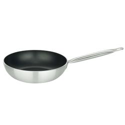 ELO Bistro Line Wokpfanne, Küchenpfanne ideal für fettarme Speisen, Durchmesser: 28 cm
