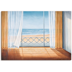 Artland Wandbild Terrasse mit Meerblick, Fensterblick (1 Stück) 100 cm x 70 cm