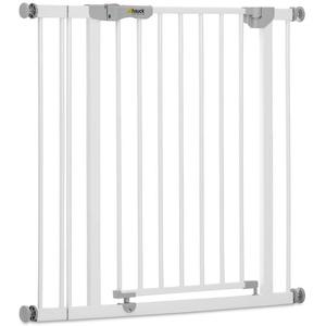 Hauck Türschutzgitter / Treppenschutzgitter für Kinder Autoclose N Stop Safety Gate inkl. 9 cm Verlängerung / selbstschließend / ohne Bohren / 84 - 89 cm breit / erweiterbar / Metall Gitter / weiß