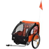 Homcom Kinderanhänger orange/schwarz