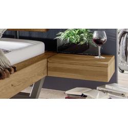 Schwebender Nachttisch mit Schubladen Wildeiche natur - Darica