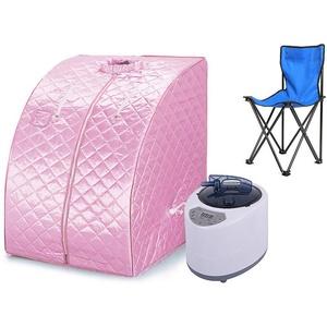 1000W, dampfsauna, mobile sauna, Heimsauna, Passen Sie die Temperatur an, fördern Sie die Durchblutung, halten Sie den Körper gesund (Rosa)