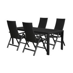 ebuy24 Essgruppe Fuccy Gartenmöbel Set 1 Tisch und 4 Stühle.