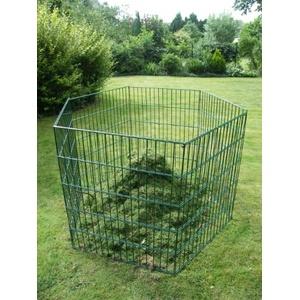 Sia Laub & Rasenschnitt Komposter Tetragon über 720 Liter Füllvolumen grün
