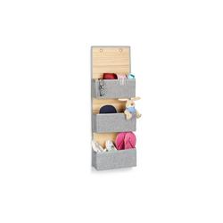 relaxdays Hängekorb Hängeaufbewahrung Bad für Wand und Tür 12 cm x 94 cm x 33 cm