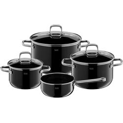 Silit Topf-Set Elegance Line, Silargan®, (Set, 4-tlg), induktionsgeeignet schwarz