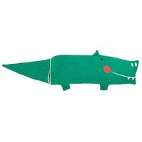 David Fussenegger Decke in der Puppe Juwel Krokodil Smaragd