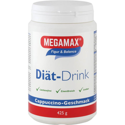 MEGAMAX Diät Drink Cappuccino Pulver 425 g