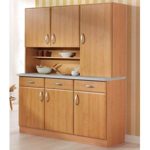 wiho Küchen Küchenbuffet Küchenbuffet Prag, Breite 150 cm beige