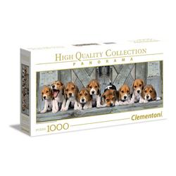 Clementoni® Puzzle 39435 Beagles 1000 Teile Panorama Puzzle, 1000 Puzzleteile, Panorama Format