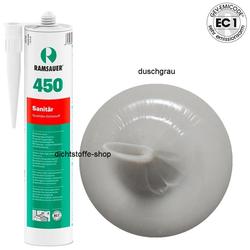 Ramsauer 450 Sanitär duschgrau 1K Silikon Dichtstoff 310ml Kartusche
