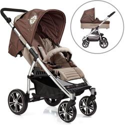 Gesslein Kombi-Kinderwagen S4 Air+, Eloxiert/Nautik & Babywanne C3 Nautik