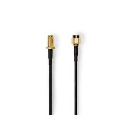 nedis Vergoldet, 50 Ohm, Einzeln geschirmt SAT-Kabel, (100 cm) 100 cm