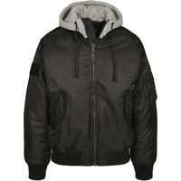 Brandit Textil MA-1 Sweat Hooded Jacket schwarz/grau 4XL