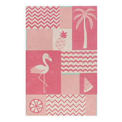 Teppichart Fruity Flamingo petrol Gr. 130 x 190