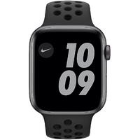 Apple Watch SE Nike GPS + Cellular 44 mm Aluminiumgehäuse space grau, Nike Sportarmband anthrazit/schwarz