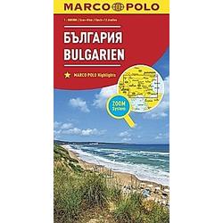 MARCO POLO Karte Länderkarte Bulgarien 1:800 000; Bulgarie / Balgarija / Bulgaria - Buch