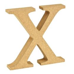 """VBS Buchstaben """"MDF"""" 8 cm x 1,5 cm bunt Buchstabe """"X"""""""