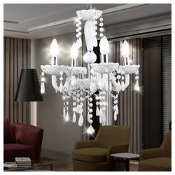 etc-shop Kronleuchter, Decken Hänge Lampe Kron Leuchter Luster Beleuchtung Wohn Zimmer im Set inklusive LED Leuchtmittel