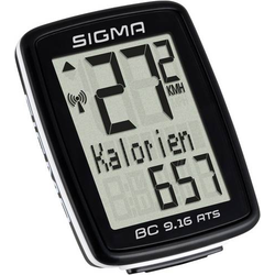 Sigma BC 9.16 ATS Fahrradcomputer, kabellos Codierte Übertragung mit Radsensor