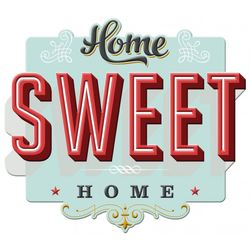 Wandtattoo HOME SWEET HOME Pro-Art