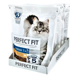 PERFECT FIT Katzenfutter Indoor 1+ Reich an Huhn 750 g, 6er Pack