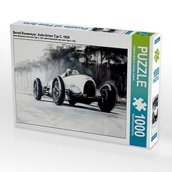 Bernd Rosemeyer, Auto-Union Typ C, 1936 Lege-Größe 64 x 48 cm Foto-Puzzle Bild von design, bartsch. Puzzle