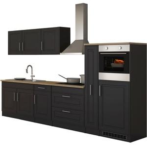 Küchenzeile Landhaus E-Geräte Einbauküche mit Elektrogeräten Küchenblock 320 cm