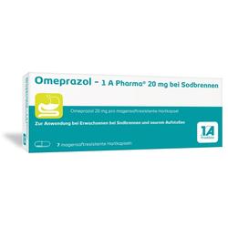 OMEPRAZOL-1A Pharma 20 mg bei Sodbrennen HKM 7 St
