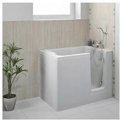 HAK Badewanne DEEP,Sitzbadewanne mit Tür, 121x65 cm, rechts