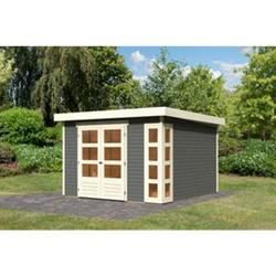 Woodfeeling Gartenhaus Kerko 6, 19 mm terragrau