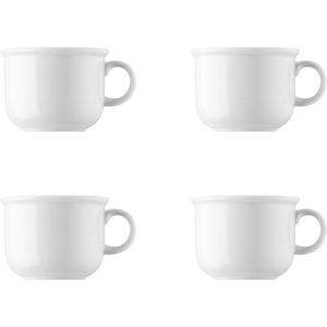 4 x Kaffee-Obertasse - Trend Weiß - Thomas - 11400-800001-14742 Porzellan Geschirr -