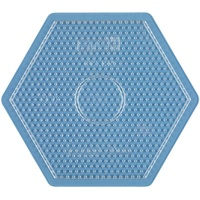Hama 276 TR - Bügelperlen Stiftplatte 6eck transparent