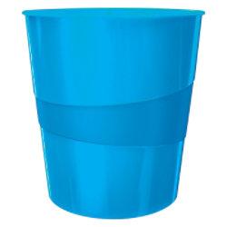 Leitz WOW Papierkorb 15 Liter Blau 29 x 29 x 32,4 cm