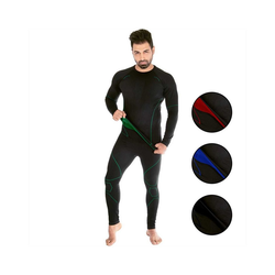 Black Snake Funktionsunterhemd neverest, Funktionsunterwäsche Set Seamless Unterhemd + Unterhose M/L