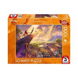 Schmidt Spiele Puzzle Puzzle Kinkade Disney König der Löwen, 1.000 Teile, Puzzleteile