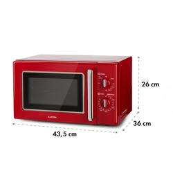 Caroline Mikrowellen-Grill | 20 Liter | 700 W Mikrowelle / 1000 W Grill | Drehteller Ø 25,5cm | QuickSelect | Retro-Design