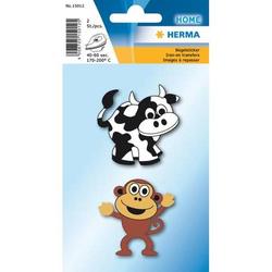 Sticker Bügelbilder Kuh + Affe VE=2 Stück