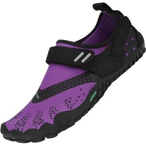 SAGUARO Fitnessschuhe für Damen Sommer Atmungsaktive Barfussschuhe Unisex Leicht Weiche Wassersportschuhe Herren Trail-Laufschuhe, Violett 41