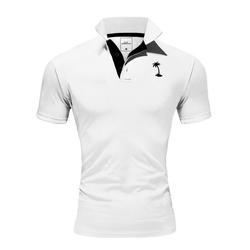 behype Poloshirt PALMSON mit kontrastfarbigen Details L