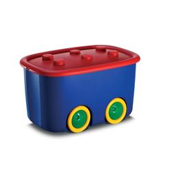 Spielzeugaufbewahrungsbox 46 Liter Blau/Rot