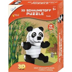 MAMMUT Spiel und Geschenk 3D-Puzzle 3D Schaumstoff Puzzle Panda, Puzzleteile