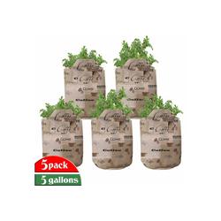 Abakuhaus Pflanzkübel hochleistungsfähig Stofftöpfe mit Griffen für Pflanzen, Kaffee Coffee Beans Typography 28 cm x 28 cm