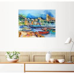 Posterlounge Wandbild, Lerici Ligurien Am Hafen 80 cm x 60 cm