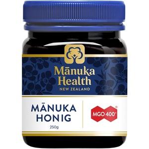 Manuka Health - Manuka Honig MGO 400+ 250 g - 100% Pur aus Neuseeland mit zertifiziertem Methylglyoxal Gehalt