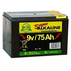 Weidezaunbatterie »Super« Batterien Alkalisch · 9v 75Ah